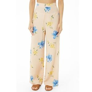 Pants - High Waisted Wide Leg Trousers